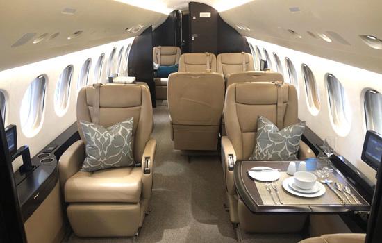 Falcon 7x interior