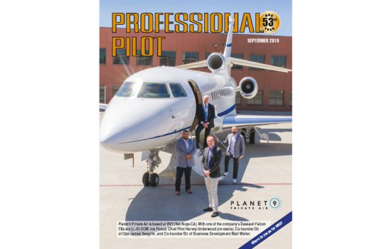 September - issue of professional pilot magazine
